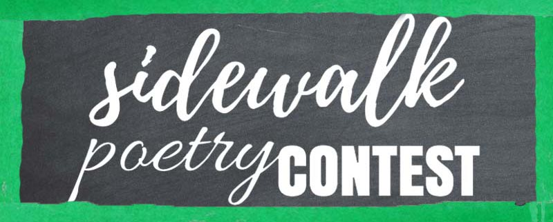 Sidewalk Poetry Contest